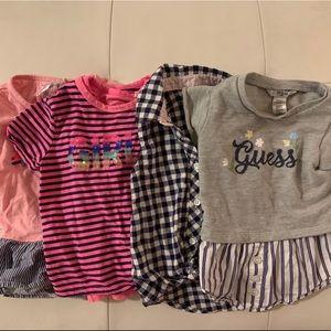 Bundle of 4 Baby Girl Shirts